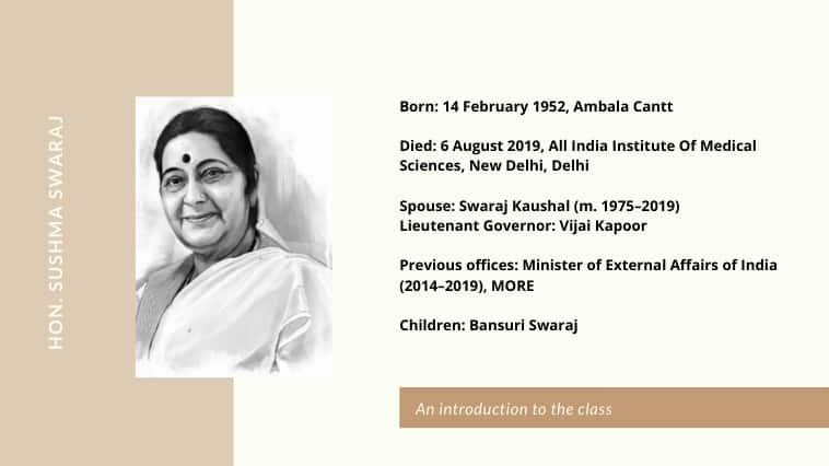 Sushma Swaraj Ki Jeevani in Hindi