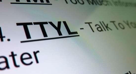 Full form of TTYL in Hindi, TTYL Full form in Hindi