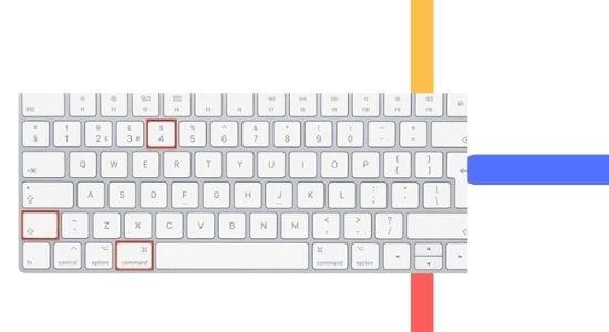 MAC पर स्क्रीनशॉट