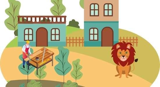 lion and woodcutter Panchtantra ki kahani