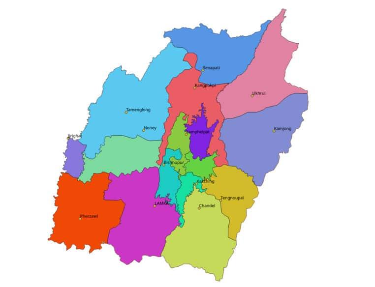 List of DISTRICTS OF Manipur in Hindi and English, website, MAP|मणिपुर के सभी जिलों के नाम और उनकी वेबसाइट