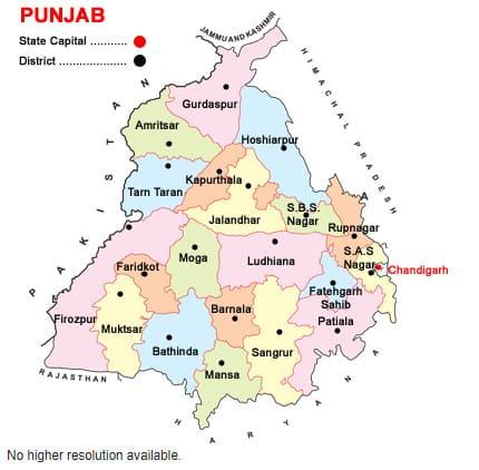 List of Districts of PUNJAB in Hindi and English, website, map | पंजाब के सभी जिलों के नाम और उनकी वेबसाइट