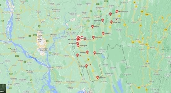 cities in Tripura, towns in Tripura,त्रिपुरा के शहर