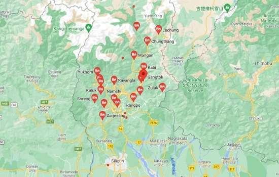 cities in Sikkim, towns in Sikkim,सिक्किम के शहर