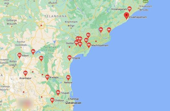 cities in Andhra pradesh, towns in Andhra Pradesh ,आंध्र प्रदेश  के शहर