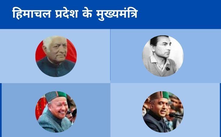 List of Himachal Pradesh CM | हिमाचल प्रदेश के मुख्यमंत्रियों की सूची और कार्यकाल | List of chief ministers of Himachal Pradesh | Himachal Pradesh CM list in Hindi PDF | Himachal Pradesh Chief Ministers (CM) List PDF in Hindi | Himachal Pradesh ke Mukhyamantri list in hindi