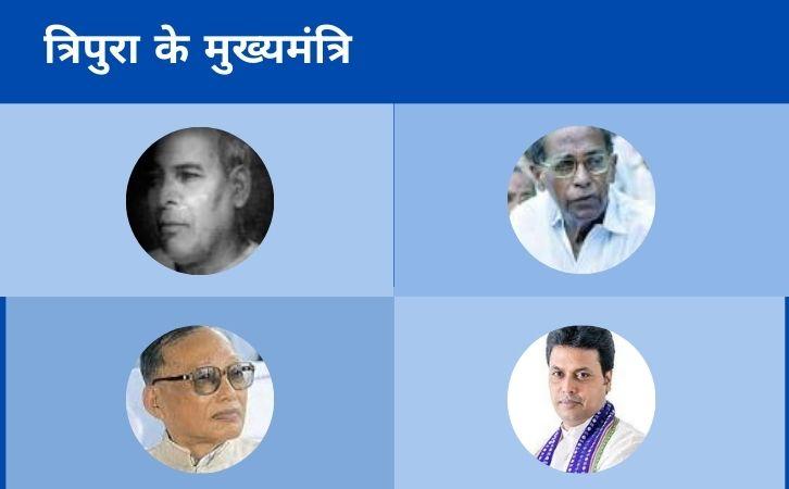 List of Tripura CM | त्रिपुरा के मुख्यमंत्रियों की सूची और कार्यकाल | List of chief ministers of Tripura | Tripura CM list in Hindi PDF | Tripura Chief Ministers (CM) List PDF in Hindi | Tripura ke Mukhyamantri list in hindi