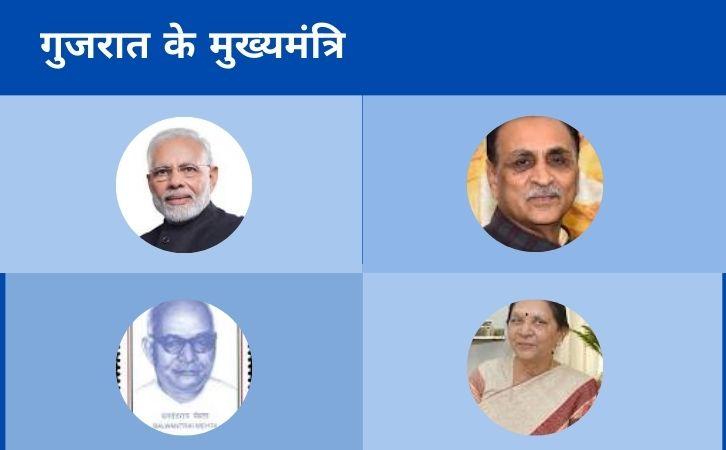 List of Gujarat CM | गुजरात के मुख्यमंत्रियों की सूची और कार्यकाल | List of chief ministers of Gujarat | Gujarat CM list in Hindi PDF | Gujarat Chief Ministers (CM) List PDF in Hindi | Gujarat ke Mukhyamantri list in hindi